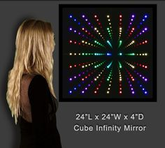 Infinity Mirror Displays and Infinity Mirror Tables Led Infinity Mirror, Two Way Mirror, Mirror Video, Double Infinity, Mirror With Lights, Home Projects, Cube, Tables, Ceiling Lamps