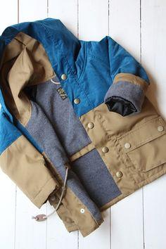 2トーンフィールドジャケット/ベージュ×ブルー - 100% picnic.
