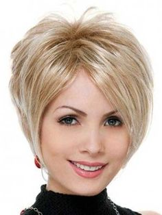 Short Layered Hairstyle with Long Strands