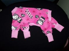Pet Clothing Dog Pajamas Hot Pink Sweet Kitty by paulinesfashions, $23.00
