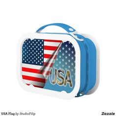 US Flag Yubo Lunch Box | America's Birthday Party is just around the corner! Let's celebrate this 4th of July with joy & uplifting patriotic gifts!