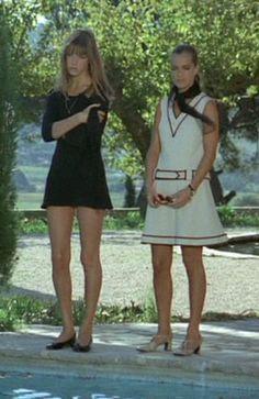 """Jane Birkin and Romy Schneider in """"La Piscine"""""""