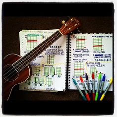 Getting down to business, learning new songs, chords and strums! - I need to work on new strum techniques Homemade Musical Instruments, Piano Lessons For Beginners, Ukelele, Ukulele Songs, Teaching Music, Music Education, Guitar Lessons, Playing Guitar, News Songs