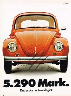 Alte Werbung Reklame Anzeige VW Käfer 70er vintage advert Volkswagen Käfer 70s in Sammeln & Seltenes, Reklame & Werbung, Branchen & Marken   eBay!