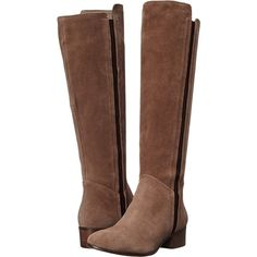 Steve Madden Pullon Women's Pull-on Boots, Taupe ($105) ❤ liked on Polyvore featuring shoes, boots, ankle booties, taupe, taupe booties, slipon boots, slip on booties, taupe boots and stacked heel boots