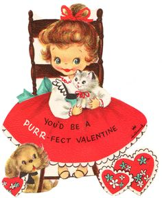 Two Crazy Crafters: Happy Valentine's Day (Images vintage + Tout en rouge)