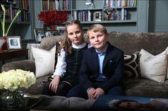 La princesse Ingrid Alexandra et le prince Sverre Magnus de Norvège à Asker, le 14 décembre 2015