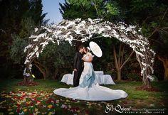arco floral boda