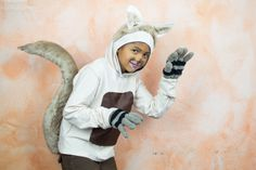 Learn how to make an awesome squirrel costume at home! #costume