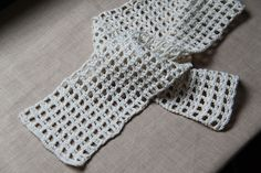 Simple crochet scarf pattern - Townmouse