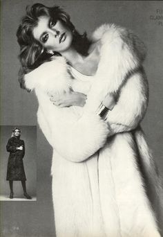 US Vogue November 1975 | Furs--Glamour Plus! | Photo Richard Avedon | Model Rene Russo | Hair Harry King | Makeup Mark Sephton