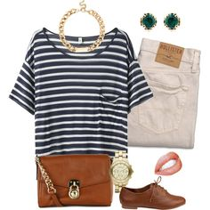 Outfit Ideas: Cropped Pants With A Striped Shirt