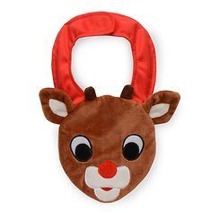 This holiday season, your little one will look extra cute wearing this Rudolph Novelty Bib. Features the famous reindeer's face in soft boa. Brightens up any outfit as well.