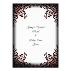 >>>Best          	Black and Red Gothic Scroll Wedding Invitation           	Black and Red Gothic Scroll Wedding Invitation lowest price for you. In addition you can compare price with another store and read helpful reviews. BuyReview          	Black and Red Gothic Scroll Wedding Invitation Rev...Cleck Hot Deals >>> http://www.zazzle.com/black_and_red_gothic_scroll_wedding_invitation-161622250596467024?rf=238627982471231924&zbar=1&tc=terrest