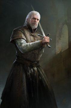 The Maestro (Swordsman), MuYoung Kim on ArtStation at https://www.artstation.com/artwork/qmAGN