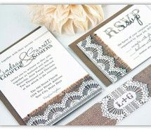 Inspiring image rustic, wedding invitations, burlap, country #770713 - Resolution 560x445px - Find the image to your taste
