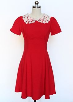 Hell Bunny Mia Dress in Red