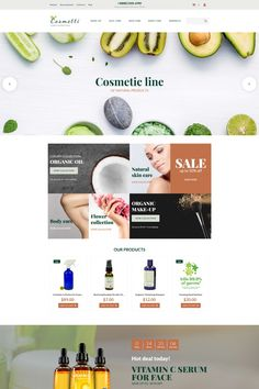 Cosmetics Store Responsive MotoCMS Ecommerce Template #65061