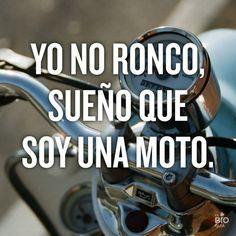 Yo no ronco, sueño que soy una moto                                                                                                                                                                                 Más