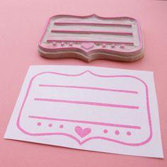 Darling address label stamp for DIY invitations #stamp