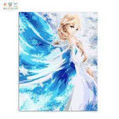 Sin marco de Fotos Pintura de Nombres DIY Pintura digital Al Óleo Sobre lliurament Decoración del Hogar imatges a la paret Snow Queen