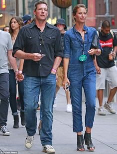 Happy couple: Ed Burns and Christy, shown in July in New York City, have been married for 12 years