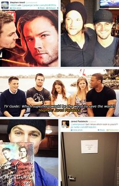 Stephen Amell and Jared Padalecki. These guys.