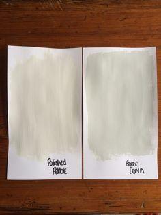 Dulux polished pebble vs goose down Dulux Grey Paint, Dulux Paint Colours, Hallway Colours, Wall Colors, Dulux Polished Pebble, Small Sitting Rooms, Pebble Color, Nautical Colors, Staircase Makeover