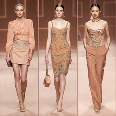 "Elisabetta Franchi on Instagram: ""A palette made of soft shades on the Fall Winter 20-21 Fashion Show. #ELISABETTAFRANCHI #EFFW20 #EFfashionshow #mfw #FallWinter2020 #ghd…"" Fashion 2020, High Fashion, Fashion Show, Beautiful Outfits, Beautiful Things, Ghd, Peplum Dress, Cool Style, 21st"