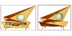 TV unusual design made in the 1950s because insanely cool, you look!