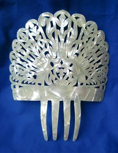 Faux Mother of Pearl Mantilla Hair Comb Large | eBay