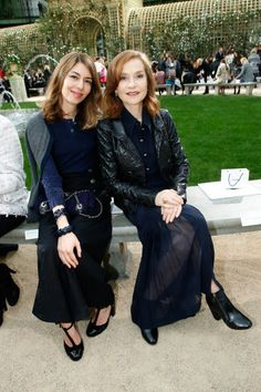 Director Sofia Coppola and actress Isabelle Huppert attend the Chanel Haute Couture Spring Summer 2018 show as part of Paris Fashion Week on January 23, 2018 in Paris, France.