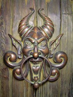Unique Devil Door Knocker Randomville: Unique Knockers And Unusual Knobs The Doors, Cool Doors, Unique Doors, Windows And Doors, Front Doors, Door Knockers Unique, Door Knobs And Knockers, Porte Cochere, Digital Art Gallery