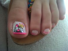 Resultado de imagen para deko uñas para pies Sexy Nails, Toe Nails, Cute Pedicures, Toe Polish, Toe Nail Designs, Pretty Toes, Nail Colors, Nail Art, Beauty