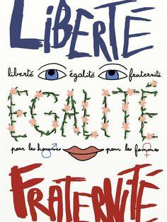 Liberté, égalité, fraternité - Les meilleures affiches du concours sur l'égalité homme-femme - Grazia