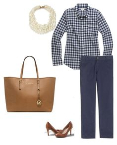 """Untitled #143"" by smag on Polyvore featuring Lands' End, J.Crew and Michael Kors"