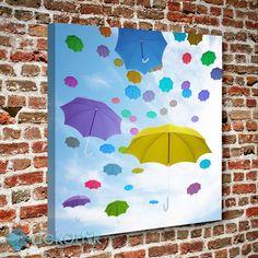 Renkli Şemsiyeler Tablo #dekoratif_kanvas_tablo