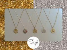Dije de Iniciales plata u oro (plata bañada en oro) #sagojewelry Compras directamente desde nuestra pagina de Facebook https://www.facebook.com/sagojewelry