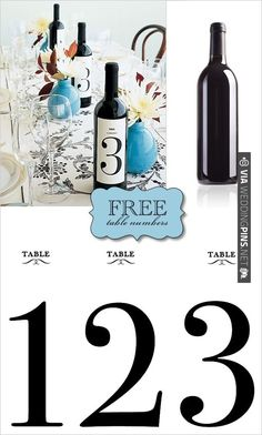 DIY, Do It Yourself, Wine Labels, wine, label, table number, print, templates, download | CHECK OUT MORE IDEAS AT WEDDINGPINS.NET | #diyweddings