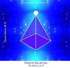 Esta Plantilla número 7 del Disco Glacial contiene energías de transmutación, es por así decirlo un acelerador de la frecuencia y les ayudara a equilibrar y aclarar sus emociones, pensamientos y sentimientos.