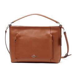 Women's Shoulder Bags - Coach New York Womens Scout PebbledLeather Hobo SVSaddle Brown -- For more information, visit image link.
