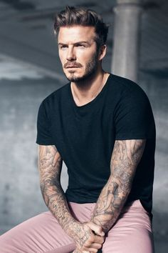 David Beckham & his medium hairstyle