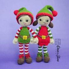 Jingle and Belle Santa's Helper Amigurumi Crochet Pattern by tonya