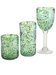 Peacock luster drink ware set