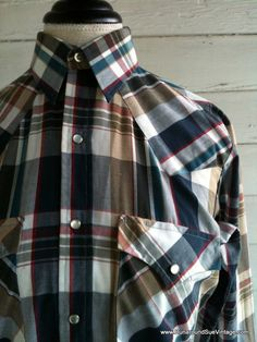 Vintage WESTERN Shirt  Men's Plaid Country by runaroundsuevintage, $35.00