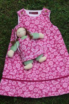Puppen - Waldorfpuppe MINOU Schmusepuppe - ein Designerstück von Lille-lilith bei DaWanda