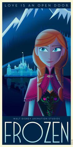 Anna Art Déco Poster by David G. Ferrero