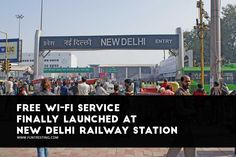 Free Wi-Fi Service Finally Launched at New Delhi Railway Station. #delhi #wifi #free