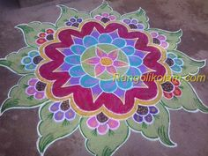This is free hand kolam . without dot this kolam is done with own idea and imagination. Rangoli Designs Latest, Latest Rangoli, Rangoli Designs Images, Rangoli Designs With Dots, Rangoli Designs Diwali, Diwali Rangoli, Rangoli With Dots, Beautiful Rangoli Designs, Simple Rangoli
