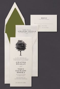 Our Arbor invitation suite is shown here thermograph printed in midnight ink.